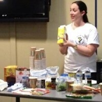 Healthy HENS and Recreation Services 6 weeks to the beach nutrition demonstration