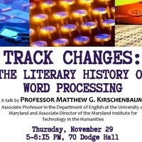 Track Changes: The Literary History of Word Processing