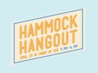 Earth Week No Hammock Hangout