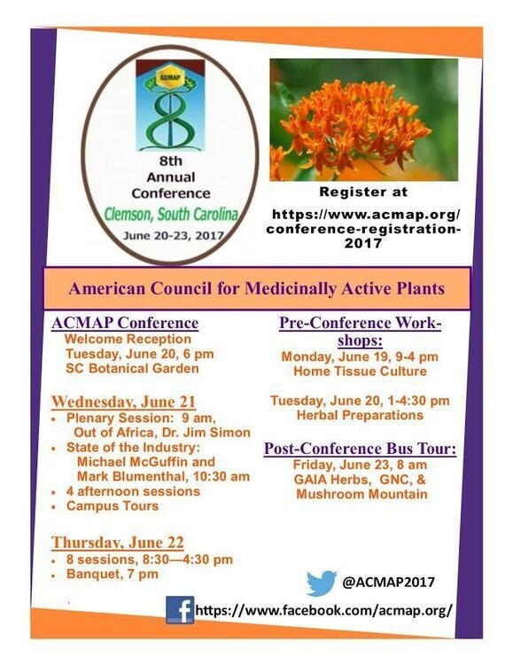 8th Annual American Council for Medicinally Active Plants Conference