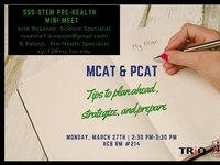 SSS-STEM: MCAT and PCAT- Planning ahead