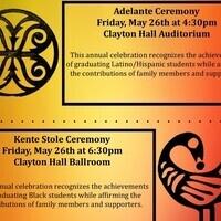 Adelante and Kente Stole Ceremonies