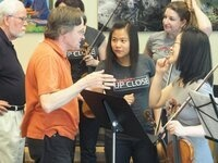 Blitz Classical Music performance at Terwilliger Plaza Lobby