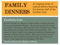 The Philippines: Family Dinner at the Portfolio Cafe