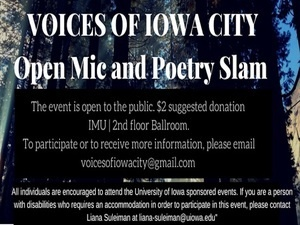 Voices of Iowa City: Poetry Slam and Open Mic
