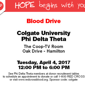 Blood Drive (American Red Cross and Phi Delta Theta)