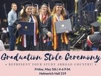 Study Abroad Graduation Stole Ceremony