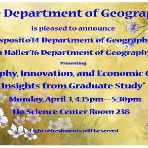 Geography, Innovation, and Economic Growth: Insights from Graduate Study