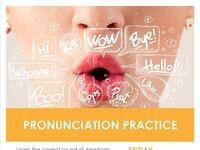 ESL Class Level 1 Advance Speaking (Pronunciation)