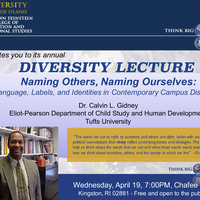 Diversity Lecture: Naming Others, Naming Ourselves...