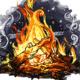 Chametz Burning Bonfire