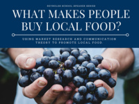 Reynolds School Speaker Series: What Makes People Buy Local Food?