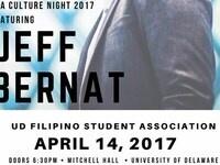 Filipino Student Association Presents: Culture Night Featuring Jeff Bernat