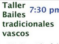 Taller Bailes Tradicionales Vascos