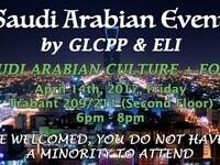 Welcome to GLCPP Saudi Arabian Culture Event