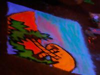 Blacklight Chalk on Panels