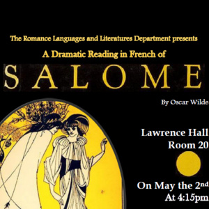 Canceled: Salomé by Oscar Wilde: A Dramatic Reading in French
