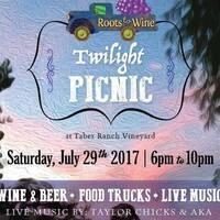 Twilight Picnic at Taber Ranch Vineyard
