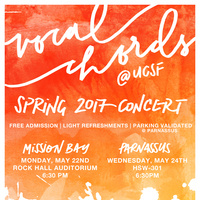 Vocal Chords at UCSF Spring 2017 Concert
