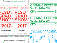 RISD Graduate Thesis Exhibition 2017 opening reception