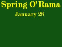 Spring O'Rama