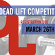 Intramural Sports Dead Lift Competition Registration Deadline