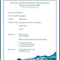 4th Annual Pat Gregory Memorial Golf Tournament