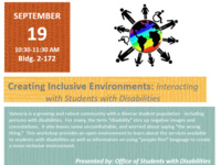 Creating Inclusive Environments: Interacting with Students with Disabilities