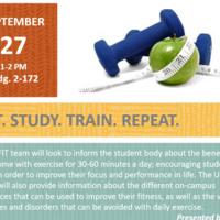 Eat. Study. Train. Repeat.