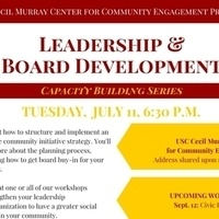 Cecil Murray Center Capacity Building Series: Leadership & Board Development