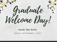 Graduate Welcome Day (new graduate students)