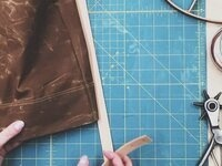 Learn to Sew: Portsmith Waxed Canvas + Leather Tote Bag
