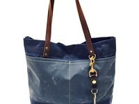 Learn To Sew: Oberlin Waxed Canvas + Leather Tote