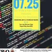 SSS-STEM: Coding for Beginners (Tech Mini-Meet)