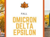 Omicron Delta Epsilon Induction Ceremony