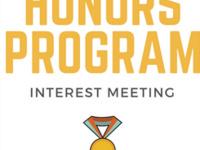 Economics Honors Program Interest Meeting
