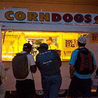 Corn Dogs and Veggie Dogs