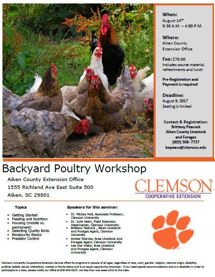 Backyard Poultry Workshop