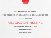 CHSS Faculty & Staff Kick Off Meeting