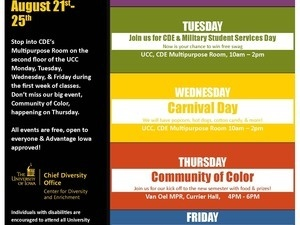 CDE Week of Welcome: Carnival Day