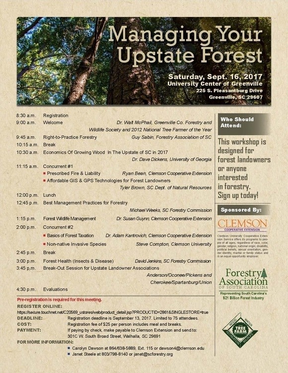 Managing Your Upstate Forest