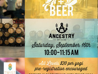 Yoga + Beer at Ancestry Brewing