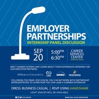 Employer Partnerships: Student Internship Panel Discussion