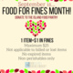 Food for Fines Month