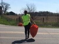 Kappa Psi Highway Clean Up