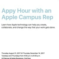 "Apple ""Appy Hours"" - Free Mac Workshops!"