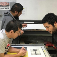 Día de los Muertos Themed Printmaking Workshop with Art Division at Fisher