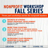 Nonprofit Workshop Fall Series
