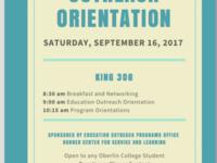 Education Outreach Orientation