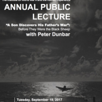 "Annual Public Lecture, ""A Son Discovers His Father's War"": Before They Were the Black Sheep"